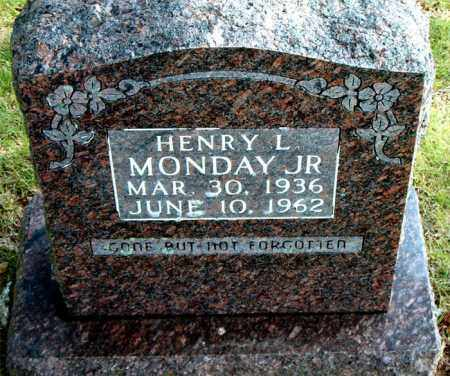 MONDAY, HENRY  L JR - Boone County, Arkansas | HENRY  L JR MONDAY - Arkansas Gravestone Photos