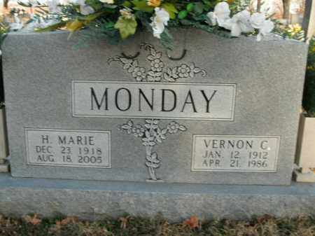 MONDAY, VERNON C. - Boone County, Arkansas | VERNON C. MONDAY - Arkansas Gravestone Photos