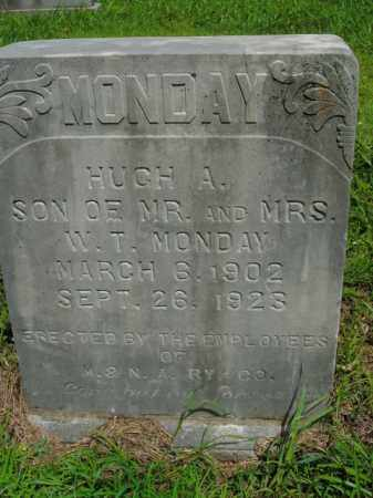 MONDAY, HUGH A. - Boone County, Arkansas | HUGH A. MONDAY - Arkansas Gravestone Photos