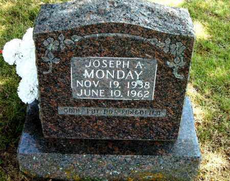 MONDAY, JOSEPH  A. - Boone County, Arkansas | JOSEPH  A. MONDAY - Arkansas Gravestone Photos