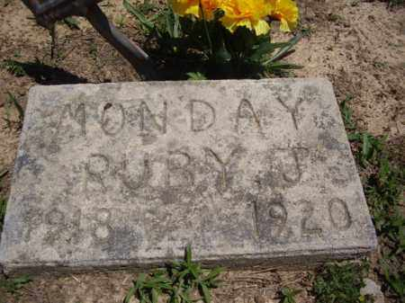 MONDAY, RUBY J. - Boone County, Arkansas | RUBY J. MONDAY - Arkansas Gravestone Photos