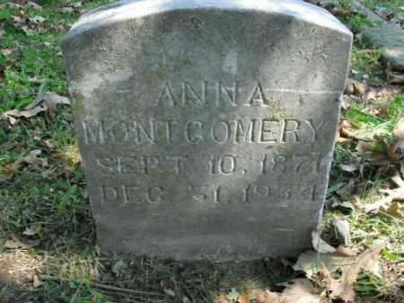 MONTGOMERY, ANNA - Boone County, Arkansas | ANNA MONTGOMERY - Arkansas Gravestone Photos