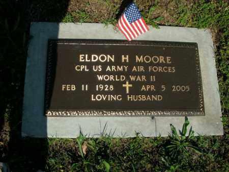 MOORE  (VETERAN WWII), ELDON H. - Boone County, Arkansas | ELDON H. MOORE  (VETERAN WWII) - Arkansas Gravestone Photos