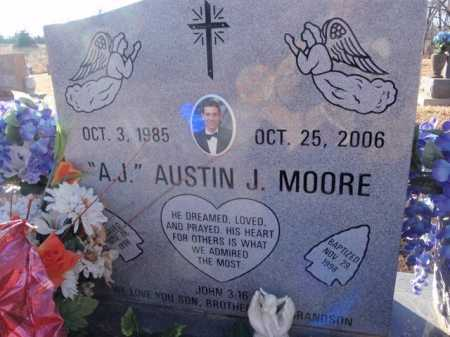 MOORE, AUSTIN J. - Boone County, Arkansas | AUSTIN J. MOORE - Arkansas Gravestone Photos