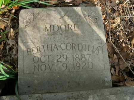 MOORE, BERTHA CORDILIA - Boone County, Arkansas | BERTHA CORDILIA MOORE - Arkansas Gravestone Photos