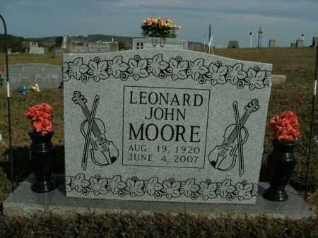 MOORE, LEONARD JOHN - Boone County, Arkansas | LEONARD JOHN MOORE - Arkansas Gravestone Photos