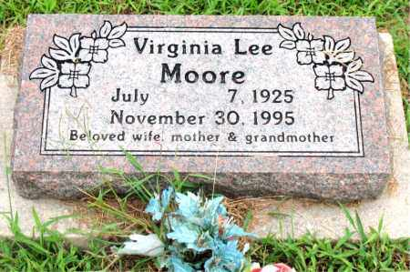 MOORE, VIRGINIA LEE - Boone County, Arkansas | VIRGINIA LEE MOORE - Arkansas Gravestone Photos