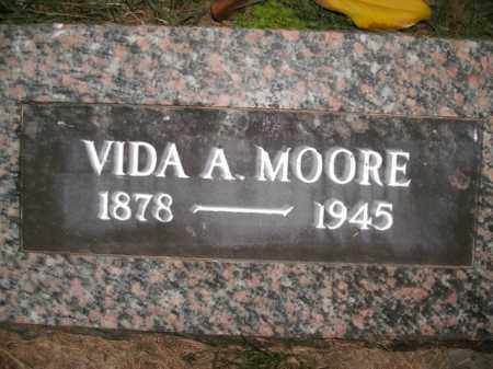 MOORE, VIDA A. - Boone County, Arkansas | VIDA A. MOORE - Arkansas Gravestone Photos