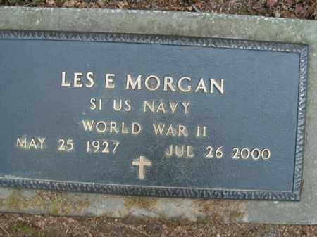 MORGAN  (VETERAN WWII), LES E - Boone County, Arkansas | LES E MORGAN  (VETERAN WWII) - Arkansas Gravestone Photos