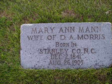 MANN MORRIS, MARY ANN - Boone County, Arkansas | MARY ANN MANN MORRIS - Arkansas Gravestone Photos