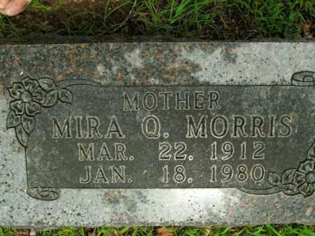 MORRIS, MIRA Q. - Boone County, Arkansas | MIRA Q. MORRIS - Arkansas Gravestone Photos