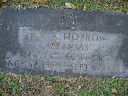 MORROW  (VETERAN), RAY A - Boone County, Arkansas | RAY A MORROW  (VETERAN) - Arkansas Gravestone Photos
