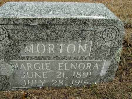 MORTON, MARGIE ELNORA - Boone County, Arkansas | MARGIE ELNORA MORTON - Arkansas Gravestone Photos