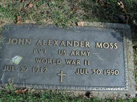 MOSS  (VETERAN WWII), JOHN ALEXANDER - Boone County, Arkansas | JOHN ALEXANDER MOSS  (VETERAN WWII) - Arkansas Gravestone Photos