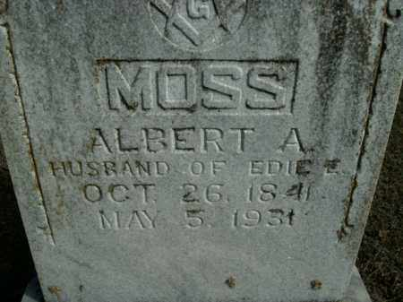 MOSS, ALBERT A. - Boone County, Arkansas | ALBERT A. MOSS - Arkansas Gravestone Photos