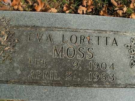 MOSS, EVA LORETTA - Boone County, Arkansas | EVA LORETTA MOSS - Arkansas Gravestone Photos