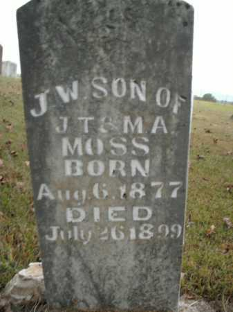 MOSS, J.W. - Boone County, Arkansas | J.W. MOSS - Arkansas Gravestone Photos