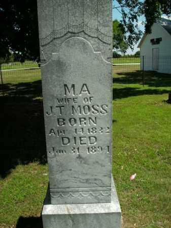 MOSS, M.A. - Boone County, Arkansas | M.A. MOSS - Arkansas Gravestone Photos