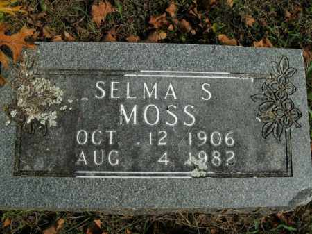 MOSS, SELMA S. - Boone County, Arkansas | SELMA S. MOSS - Arkansas Gravestone Photos