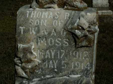 MOSS, THOMAS R. - Boone County, Arkansas | THOMAS R. MOSS - Arkansas Gravestone Photos