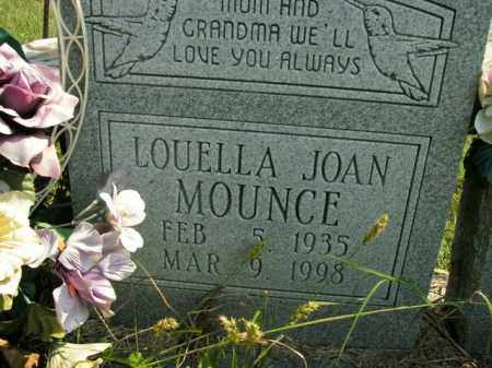 MOUNCE, LOUELLA JOAN - Boone County, Arkansas | LOUELLA JOAN MOUNCE - Arkansas Gravestone Photos