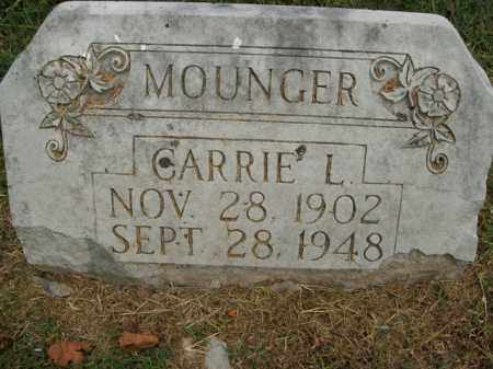 MOUNGER, CARRIE L. - Boone County, Arkansas | CARRIE L. MOUNGER - Arkansas Gravestone Photos