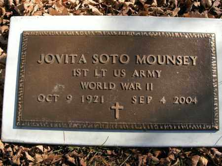 MOUNSEY  (VETERAN WWII), JOVITA SOTO - Boone County, Arkansas | JOVITA SOTO MOUNSEY  (VETERAN WWII) - Arkansas Gravestone Photos