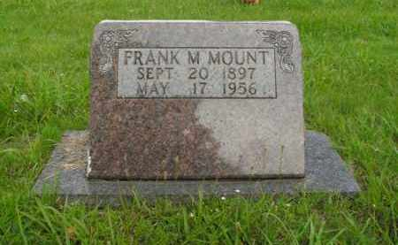 MOUNT, FRANK M. - Boone County, Arkansas | FRANK M. MOUNT - Arkansas Gravestone Photos