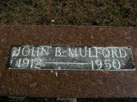 MULFORD, JOHN B. - Boone County, Arkansas | JOHN B. MULFORD - Arkansas Gravestone Photos