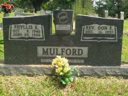 MULFORD, PHYLLIS K. - Boone County, Arkansas | PHYLLIS K. MULFORD - Arkansas Gravestone Photos