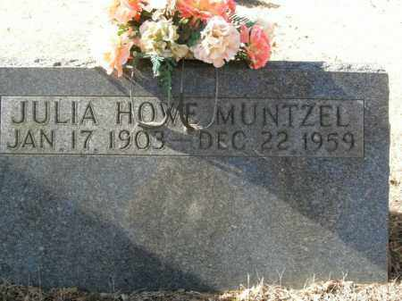 HOWE MUNTZEL, JULIA - Boone County, Arkansas | JULIA HOWE MUNTZEL - Arkansas Gravestone Photos
