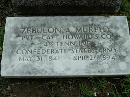 MURPHY  (VETERAN CSA), ZEBULON A. - Boone County, Arkansas | ZEBULON A. MURPHY  (VETERAN CSA) - Arkansas Gravestone Photos