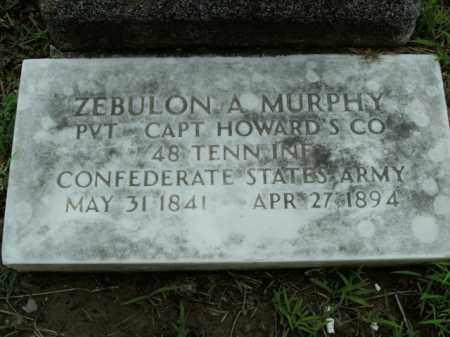 MURPHY  (VETERAN CSA), ZEBULON A. - Boone County, Arkansas | ZEBULON A. MURPHY  (VETERAN CSA) - Arkansas Gravestone Photos