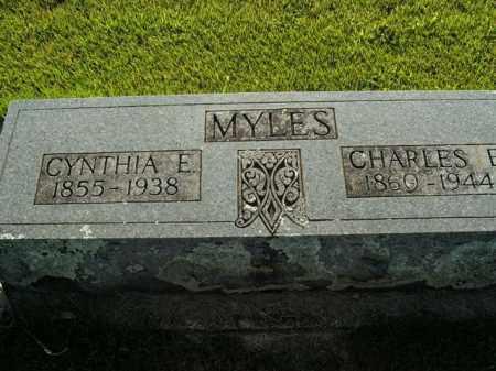 MYLES, CYNTHIA E. - Boone County, Arkansas | CYNTHIA E. MYLES - Arkansas Gravestone Photos