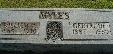 MYLES, WILLIAM A. - Boone County, Arkansas | WILLIAM A. MYLES - Arkansas Gravestone Photos
