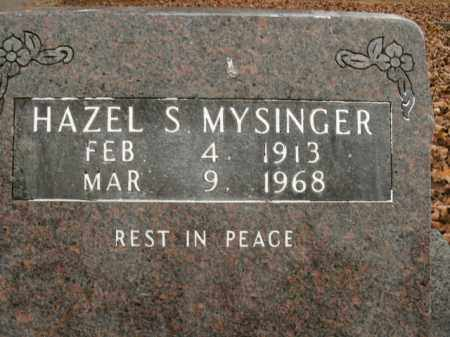 MYSINGER, HAZEL S. - Boone County, Arkansas | HAZEL S. MYSINGER - Arkansas Gravestone Photos