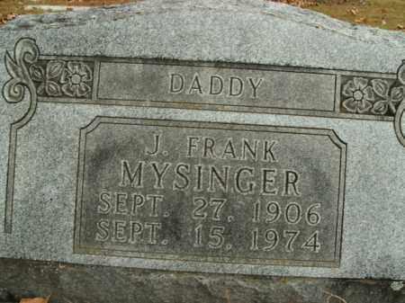 MYSINGER, J. FRANK - Boone County, Arkansas | J. FRANK MYSINGER - Arkansas Gravestone Photos