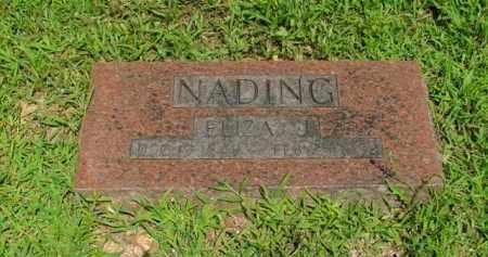 NADING, ELIZA J. - Boone County, Arkansas | ELIZA J. NADING - Arkansas Gravestone Photos