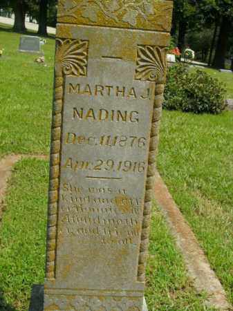 NADING, MARTHA J. - Boone County, Arkansas | MARTHA J. NADING - Arkansas Gravestone Photos