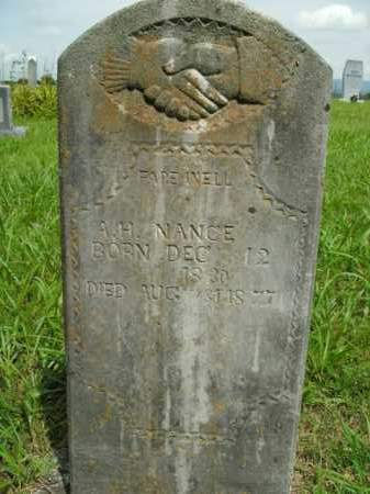 NANCE, A. H. - Boone County, Arkansas | A. H. NANCE - Arkansas Gravestone Photos
