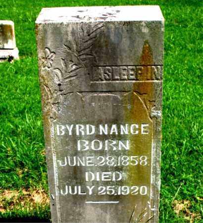 NANCE, BYRD - Boone County, Arkansas | BYRD NANCE - Arkansas Gravestone Photos