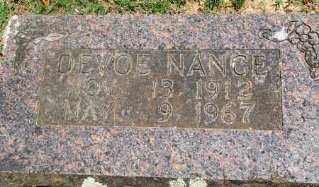 NANCE, DEVOE - Boone County, Arkansas | DEVOE NANCE - Arkansas Gravestone Photos
