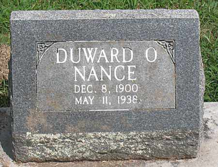 NANCE, DUWARD  OTIS - Boone County, Arkansas | DUWARD  OTIS NANCE - Arkansas Gravestone Photos