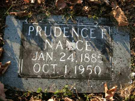 NANCE, PRUDENCE F. - Boone County, Arkansas | PRUDENCE F. NANCE - Arkansas Gravestone Photos