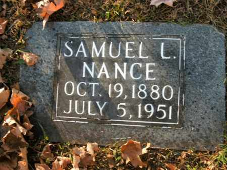 NANCE, SAMUEL L. - Boone County, Arkansas | SAMUEL L. NANCE - Arkansas Gravestone Photos