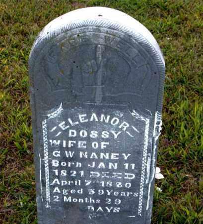 NANEY, ELEANOR DOSSY - Boone County, Arkansas   ELEANOR DOSSY NANEY - Arkansas Gravestone Photos