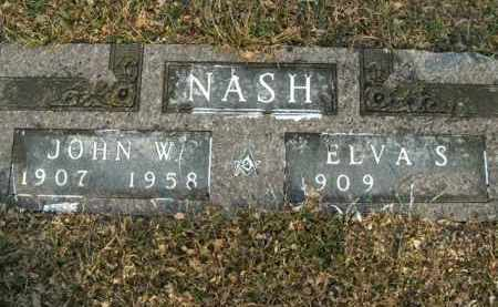 NASH, JOHN W. - Boone County, Arkansas | JOHN W. NASH - Arkansas Gravestone Photos