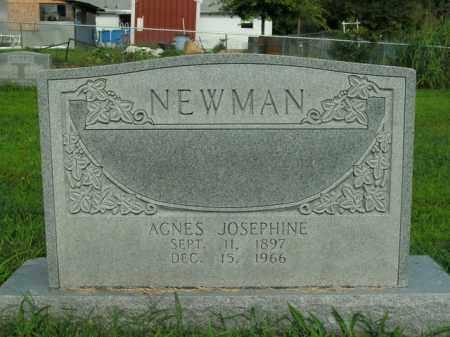 NEWMAN, AGNES JOSEPHINE - Boone County, Arkansas | AGNES JOSEPHINE NEWMAN - Arkansas Gravestone Photos