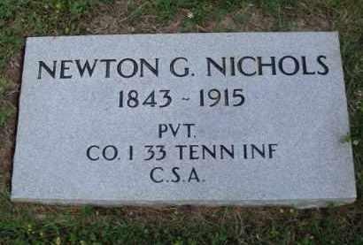 NICHOLS  (VETERAN CSA), NEWTON G. - Boone County, Arkansas | NEWTON G. NICHOLS  (VETERAN CSA) - Arkansas Gravestone Photos