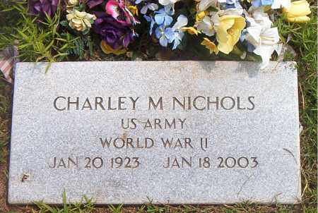 NICHOLS  (VETERAN WWII), CHARLEY  M. - Boone County, Arkansas | CHARLEY  M. NICHOLS  (VETERAN WWII) - Arkansas Gravestone Photos